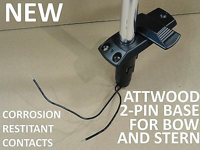 NEW Attwood 2-Pin Swing Away Stern and Bow Light Plug-in Base Socket Boat Marine