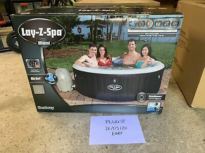 NEW Lay Z Spa Miami 2-4 Person 81 Airjet Lazy Hot Tub (Vegas Cancun St Moritz)