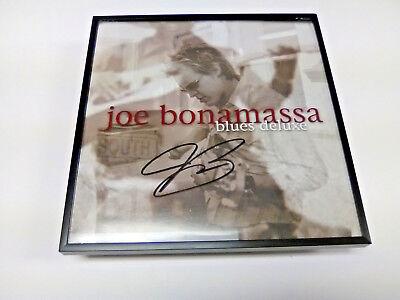 JOE BONAMASSA Signed + Framed Blues Deluxe Vinyl Record Album