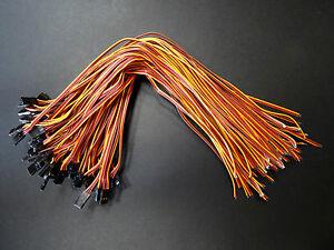10 Servokabel 30cm 300mm Qualität Servo Kabel Stecker JR Graupner Goldkontakt