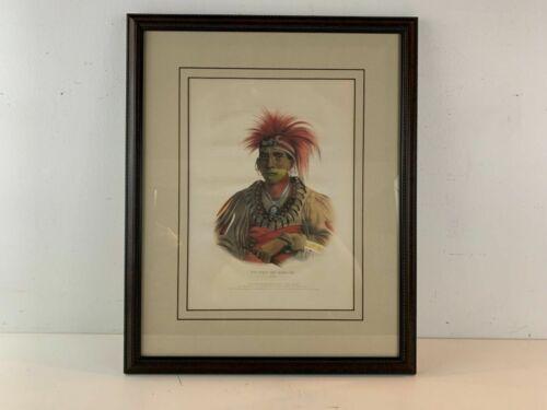 1842 No-Way-Ke-Sug-Ga, Oto Portrait Native American McKenny Lithograph Framed