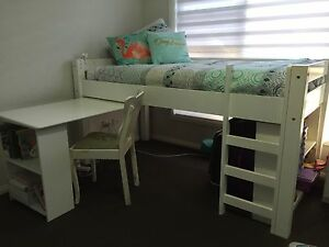 Single bed with pullout desk and two bookcases Yowie Bay Sutherland Area Preview