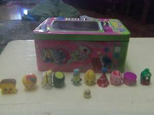Shopkins x 10 plus baby Shopkins + tin collectors container Millswood Unley Area Preview