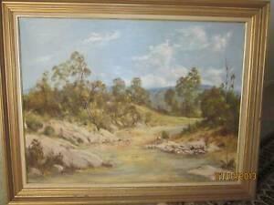 Original Oil Painting Country Scene/George Sharpe
