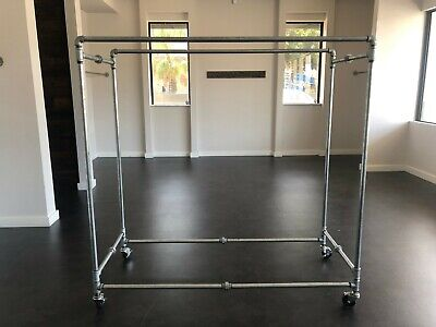 Industrial Rolling Clothing Rack