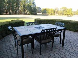 Aluminium 6 Seater Outdoor Dining Table Twin Waters Maroochydore Area Preview