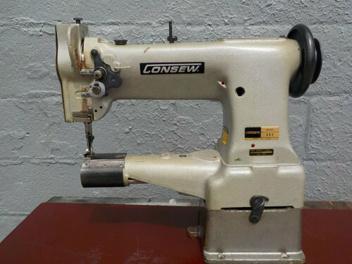 Industrial Sewing Machine Model Consew 227 , walking foot ,cylinder, Leather