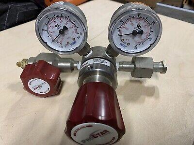 Praxair Prostar Platinum Prs 300225 Gas Regulator Max Inlet 1000 Psi Outlet 50