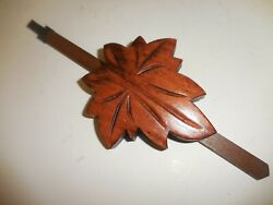 NEW  LARGE CARVED  CUCKOO CLOCK grape  leaf  8 day pendulum