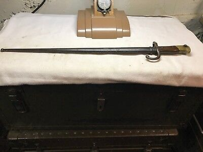 Pre WWI French Model M-1874 Gras Rifle Sword Bayonet Scabbard Matching Serial #!