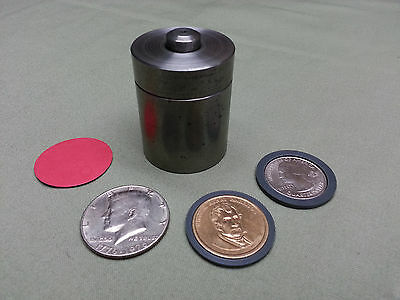 12 Coin Ring Center Punch Die Set For Us Half Dollar Pres. Dollar Quarter