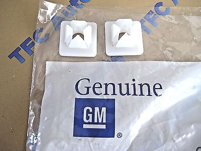 2 Chevy GM Front or Rear License Plate Snap in Clip Retainer OEM New Genuine GM