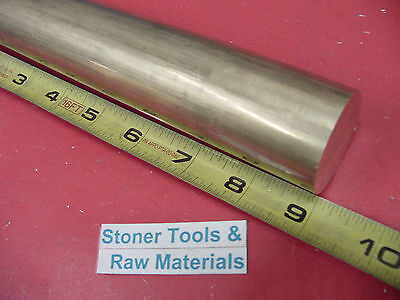 1-12 C360 Brass Round Rod 9 Long Solid 1.50 Od H02 Lathe Bar Stock