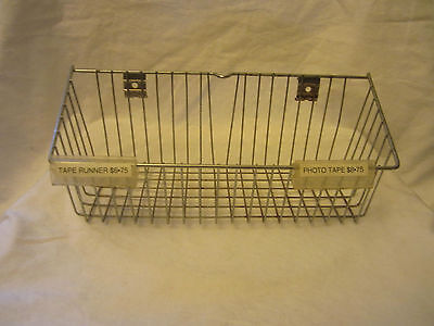 Wire Metal Rectangle Basket Retail Store Display Fixture Rack