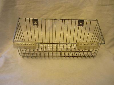 Wire Metal Rectangle Basket Retail Store Display Fixture Rack