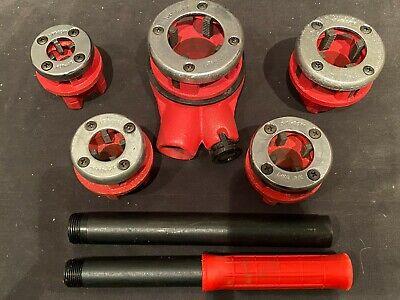5 Piece Ratcheting Die Bspt Threader Set For Black Ridgid Gas Or Galvanized Pipe