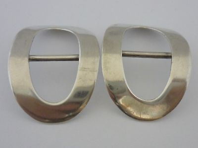 Stunning Pair Of Antique Sterling Silver Shoe Buckles - A & J Zimmerman Ltd