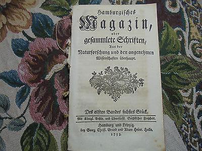 1753 ... Magazin 6 / Erfindung ewiges Licht Voltaire Tasso Mansfeld  Bernigeroth