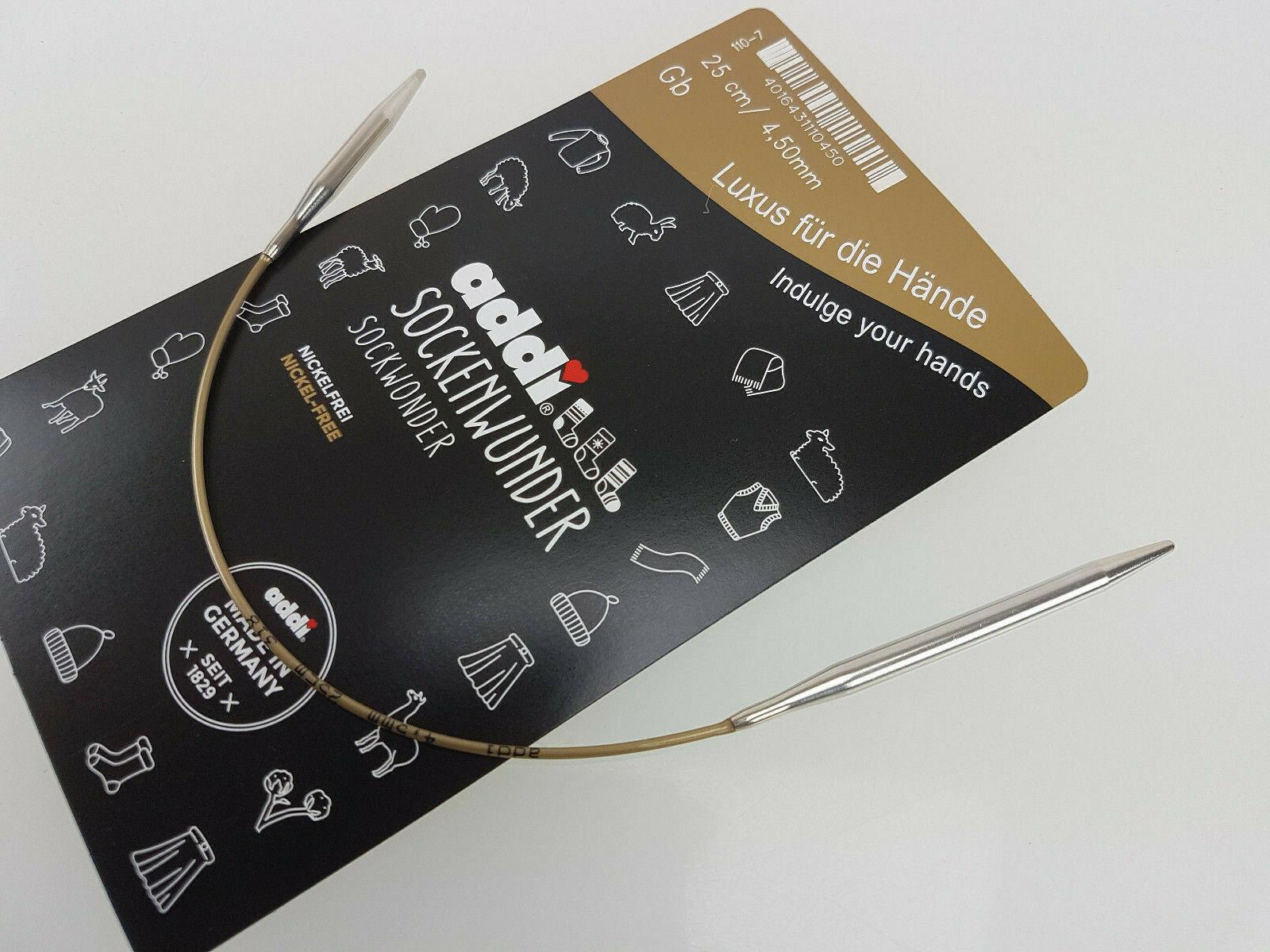 addi 110-7 1 Basic-Rundstricknadel Sockenwunder 25 cm 2.0 - 5.0 mm