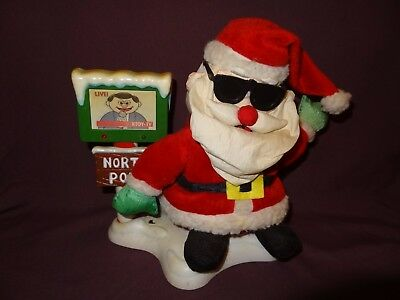 Santa Claus Talking Animated News Interview 10 inch  Playmotions North Pole