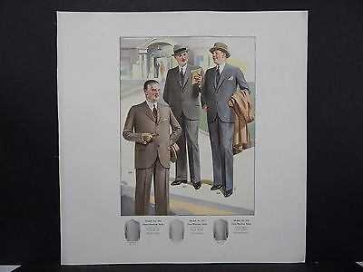Men's Fashion, Suits, Clothing, 1920's Catalog, One Page, S2#07