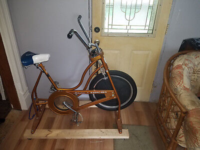 Vintage 1978 XR-6 Schwinn Exerciser Vintage Copper Look Stationary Bike