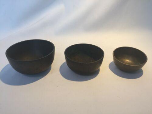 Japanese Vintage old Buddhist Altar Fitting Orin Bell Singing Bowl set 4