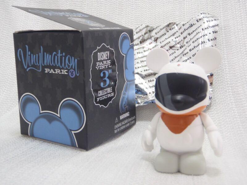 """Disney Vinylmation Park #6 Series - ORANGE MONORAIL Driver 3"""" Figure + Box +Foil"""