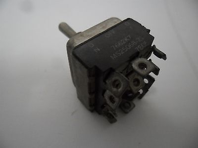Aircraft Cockpit Eaton Toggle Switch 4pdt On- Off -on 7662k7 Ms25068-21