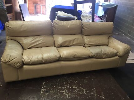 Leather 3 seater Moran couch.
