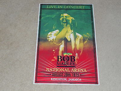 "Large Bob Marley 1975 Kingston, Jamaica Concert Poster, 19""x13"" RARE!"