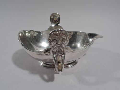 Antique Sauce Boat - Classical Gravy - European Silver   C 1900