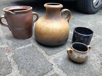 4 Krüge, Behälter Antik Trödel Vintage Deko glasierte Keramik Schleswig-Holstein - Nienwohld Vorschau