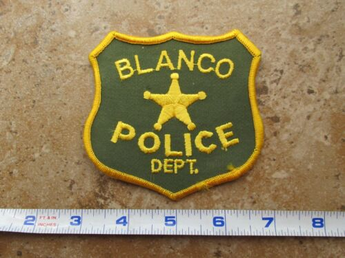 OBSOLETE Vintage State of Texas Blanco Police Department Shoulder Patch