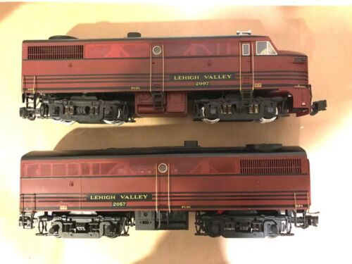 ARISTOCRAFT G SCALE REA-22007 & ART-22057 LEHIGH VALLEY DIESELS A&B BOTH POWERED