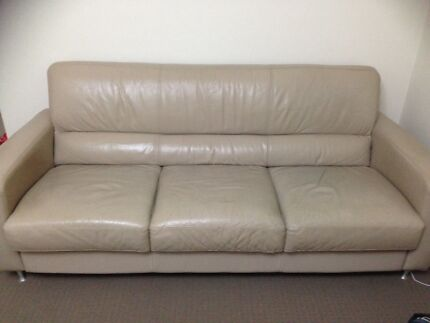 Great condition 3 seater leather sofa Mosman Mosman Area Preview