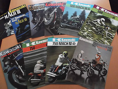 Kawasaki H1 H2 500 750 Collection Of Sales Brochures - SPECIAL.