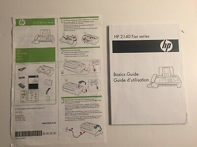 Hewlett-packard Hp 2140 Fax Series Basic Guide And Operators Manual