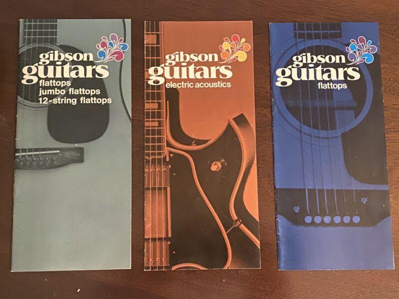 Gibson Guitar Brochures 70/71 Set Of 3