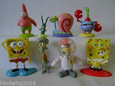 Complete collectible 8 figurine set SPONGEBOB Salati Preziosi toys figures 2005 for sale  Shipping to United States