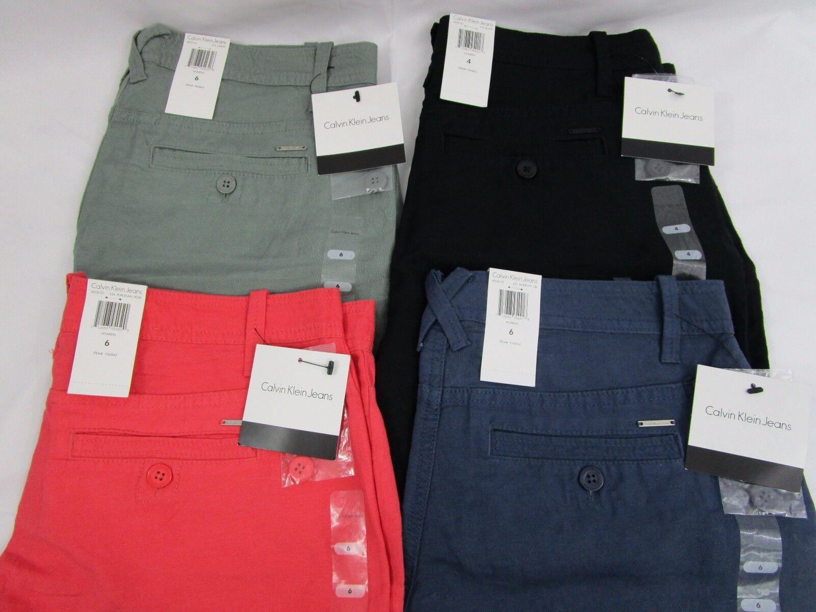 Calvin Klein Jeans Women's Linen Shorts   *NWT*