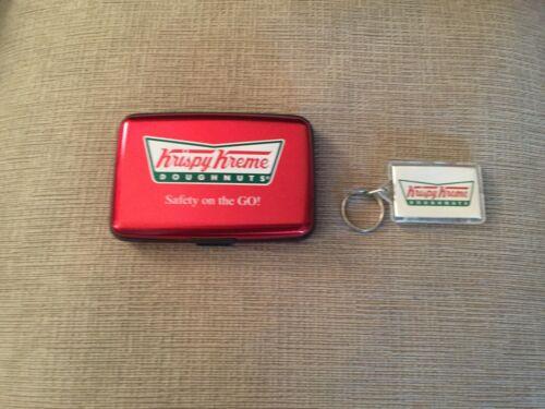 Krispy Kreme Doughnuts Safety on the go metal wallet & keychain