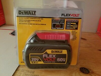 DeWalt DCB606 6.0ah Battery 20/60V Max Flexvolt Brand New SEALED