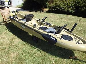 "2013 Hobie Mirage Drive ""Outfitter"" tandem Kayak Orange Orange Area Preview"