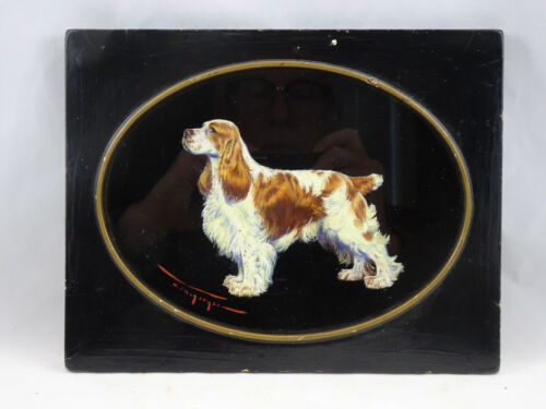 Original Oil Painting Cocker or Springer Spaniel by Mildred Megargee Dog Art