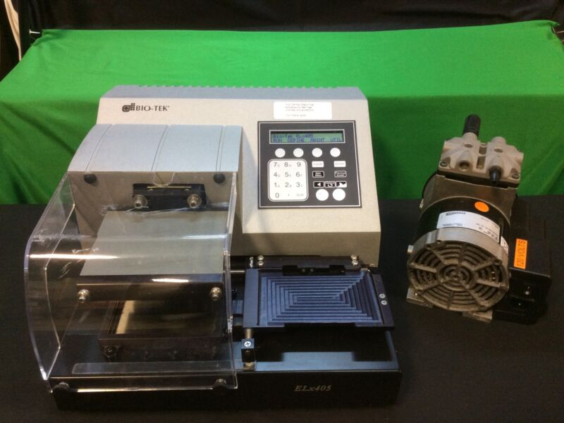 BioTek ELx405  Microplate Washer and Vacuum Pump 7100562.