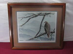Artist-Signed-Numbered-Original-Litho-Art-034-Observer-034-Chris-Forrest-5-300-Eagle