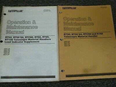 Caterpillar Rt50 Sa Telehandler Forklift Owner Operator Maintenance Manual