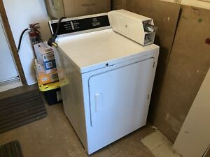 GE coin op commercial clothes dryer