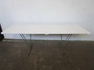 D5070 Vintage White Timber Trestle Table Dining CAFE 2 AVAILABLE Mount Barker Mount Barker Area Preview